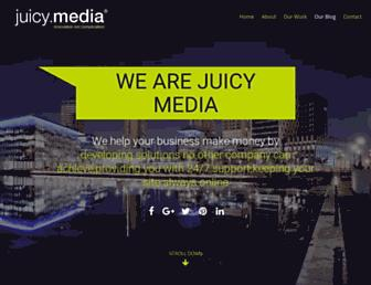 Main page screenshot of juicymedia.co.uk