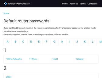 router-password.com screenshot