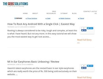 Thumbshot of Thegeeksolutions.in