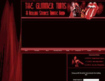 Main page screenshot of theglimmertwins.net