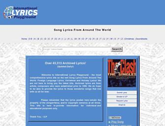 Thumbshot of Lyricsplayground.com