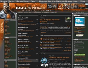 Main page screenshot of hlportal.de
