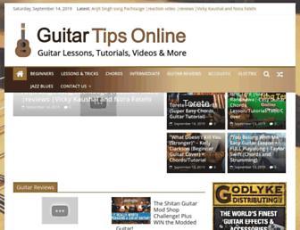 guitartipsonline.com screenshot