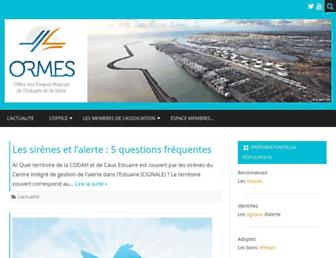 Main page screenshot of ormes.fr