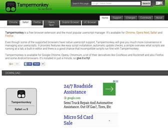 Screenshot for tampermonkey.net