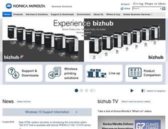 biz.konicaminolta.com screenshot