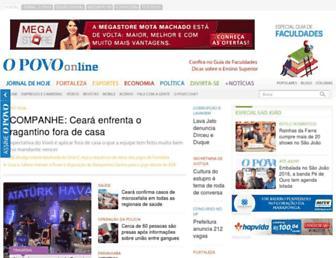 Main page screenshot of opovo.com.br
