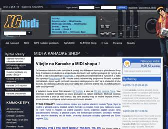 xgmidi.cz screenshot