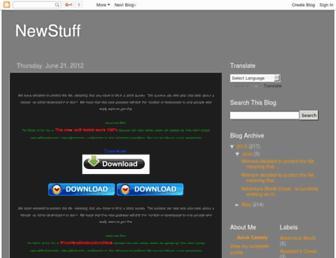 stuffnewstuff.blogspot.com screenshot