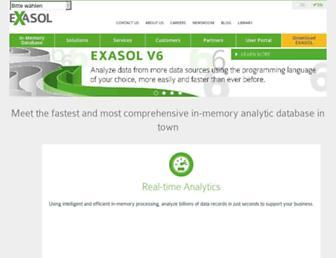 exasol.com screenshot