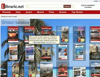 Main page screenshot of librarie.net