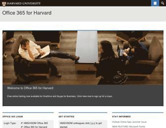 mso.harvard.edu screenshot