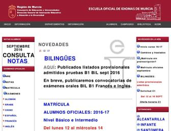 Main page screenshot of eoimurcia.org