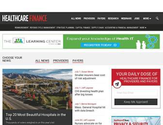 healthcarefinancenews.com screenshot