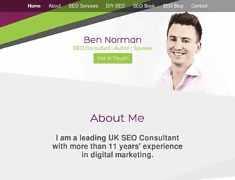 Main page screenshot of ben-norman.co.uk
