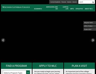 Main page screenshot of wlc.edu