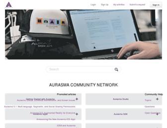 aurasma.zendesk.com screenshot
