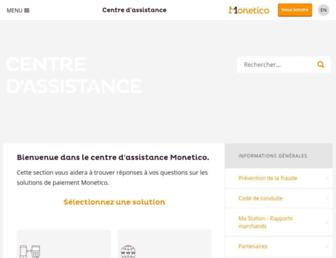 assistance.monetico.ca screenshot