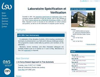 lsv.fr screenshot