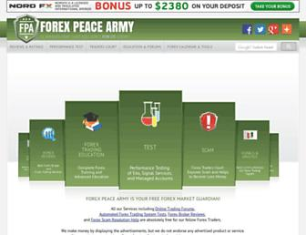 Thumbshot of Forexpeacearmy.com