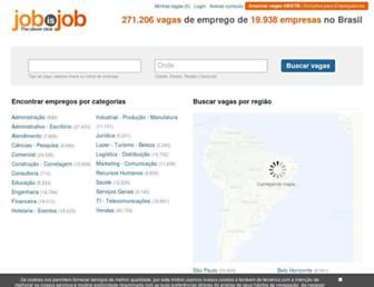 Main page screenshot of jobisjob.com.br