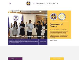 dof.gov.ph screenshot