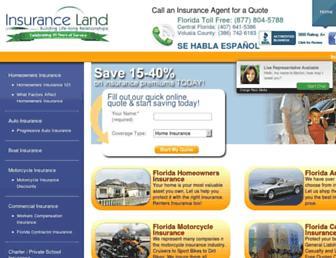 insuranceland.org screenshot