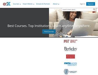 courses.edx.org screenshot
