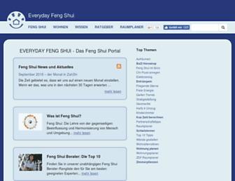 Main page screenshot of everyday-feng-shui.de