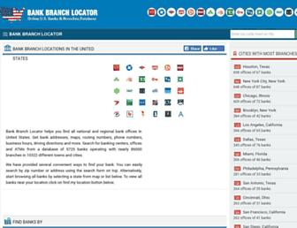 bankbranchlocator.com screenshot