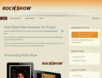 Main page screenshot of rockshow.fm