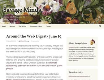Main page screenshot of savageminds.org