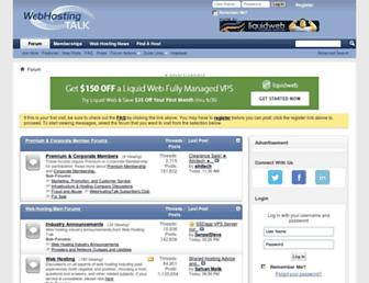 webhostingtalk.com screenshot