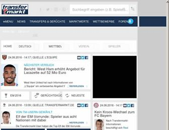transfermarkt.de screenshot