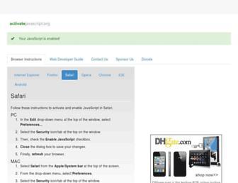 activatejavascript.org screenshot