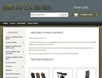 apexgunparts.com screenshot