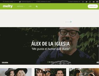 melty.es screenshot