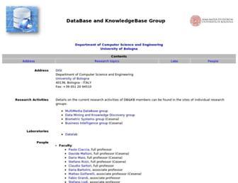 www-db.deis.unibo.it screenshot