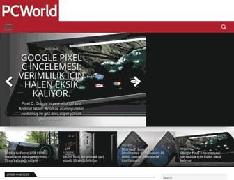 Main page screenshot of pcworld.com.tr