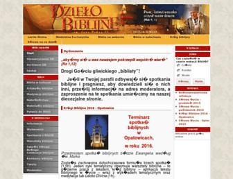 Main page screenshot of gliwice.biblista.pl