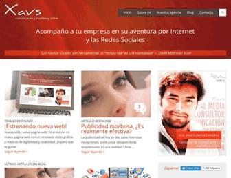 Main page screenshot of xavs.es