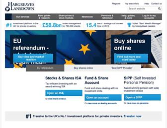 hl.co.uk screenshot