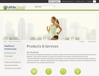 Main page screenshot of accesslifenethealth.org