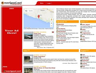 Main page screenshot of navigasi.net