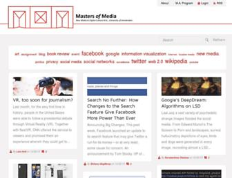 Main page screenshot of mastersofmedia.hum.uva.nl