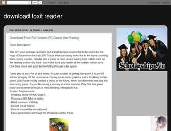 downloadfoxitreader.blogspot.com screenshot