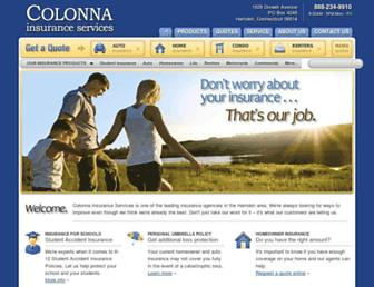 colonnainsurance.com screenshot