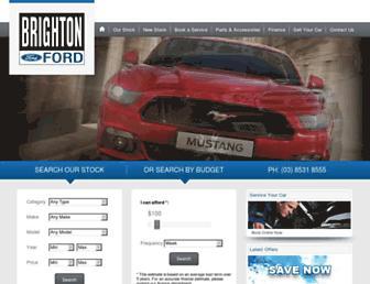 brightonford.com.au screenshot