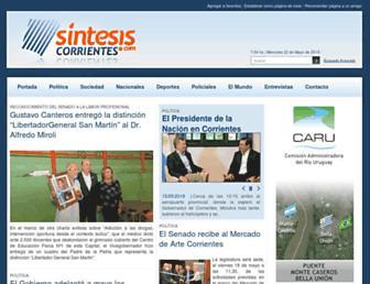 sintesiscorrientes.com screenshot