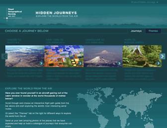 Main page screenshot of hiddenjourneys.co.uk